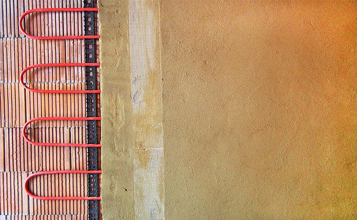 Trautmann Lehmbau, Michael Trautmann, Innere Neumatten 10, 79219 Staufen: meine Leistungen - Wand- und Deckenheizung, Wandheizung in Lehm gebettet