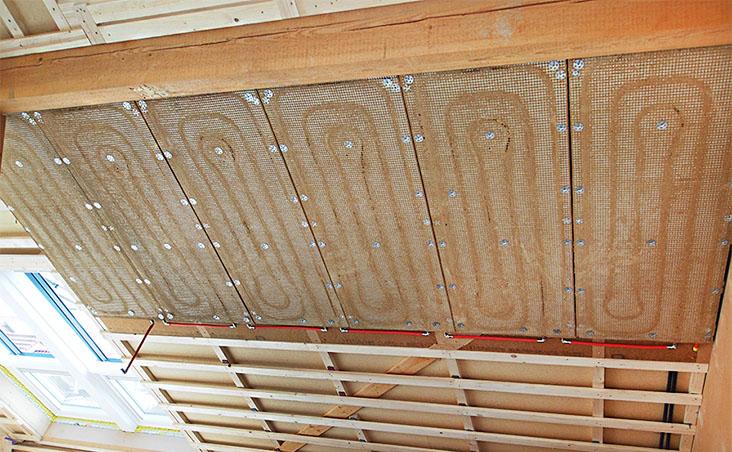 Trautmann Lehmbau, Michael Trautmann, Innere Neumatten 10, 79219 Staufen: Wand- und Deckenheizung 3, Wandheizung in Lehm gebettet
