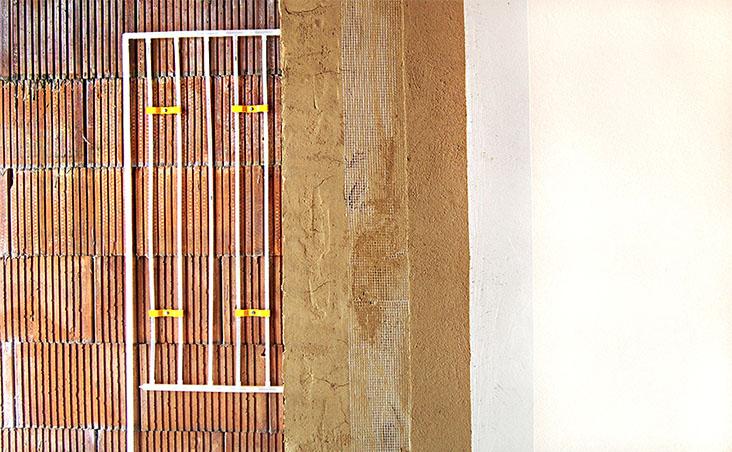 Trautmann Lehmbau, Michael Trautmann, Innere Neumatten 10, 79219 Staufen: Wand- und Deckenheizung 4, Wandheizung in Lehm gebettet